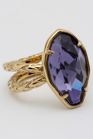 кольцо с камнем фиолетовым