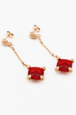 серьги с красным камнем